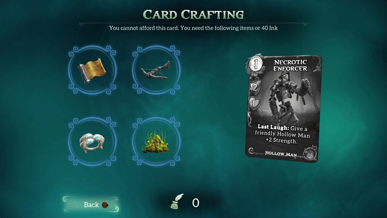 In Fable Fortune können gewünschte Karten erstellt werden.
