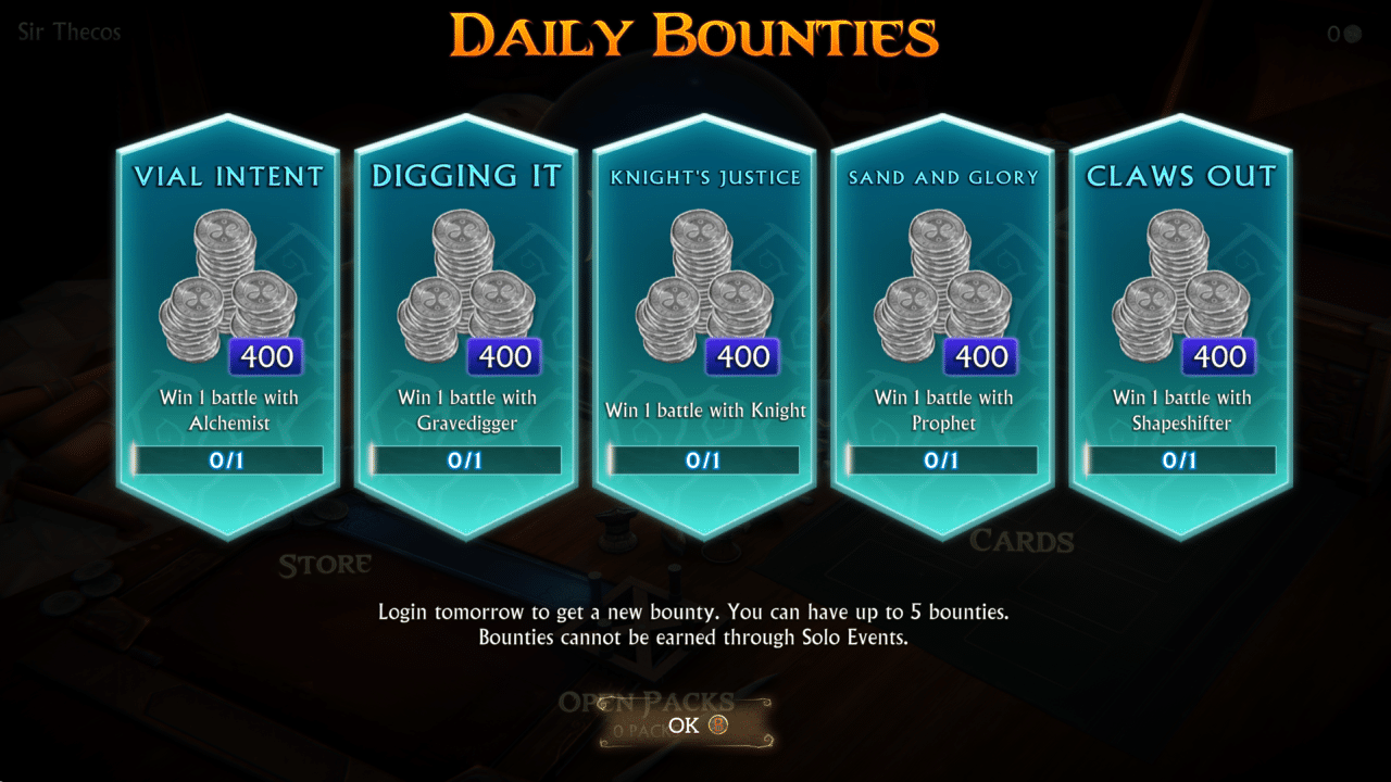 Tägliche Quests in Fable Fortune bescheren dem Spieler Silber.
