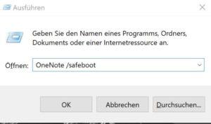 Onenote Probleme Windows 10 lösung
