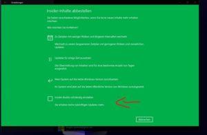 Windows 10 Insider Programm verlassen