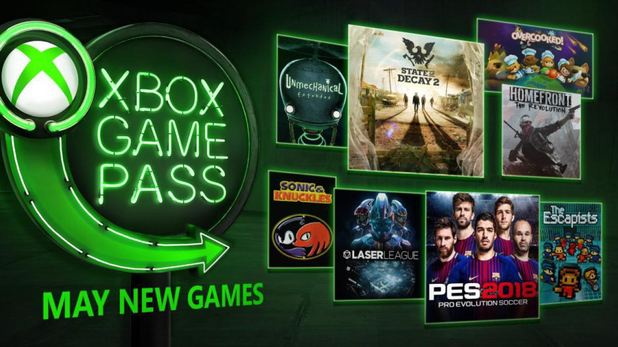 Unter den Xbox Game Pass-Spielen für Mai befinden sich State of Decay 2, Pro Evolution Soccer 2018, Laser League, Overcooked, The Escapists, Homefront: The Revolution, Unmechanical: Extended und Sonic & Knuckles.