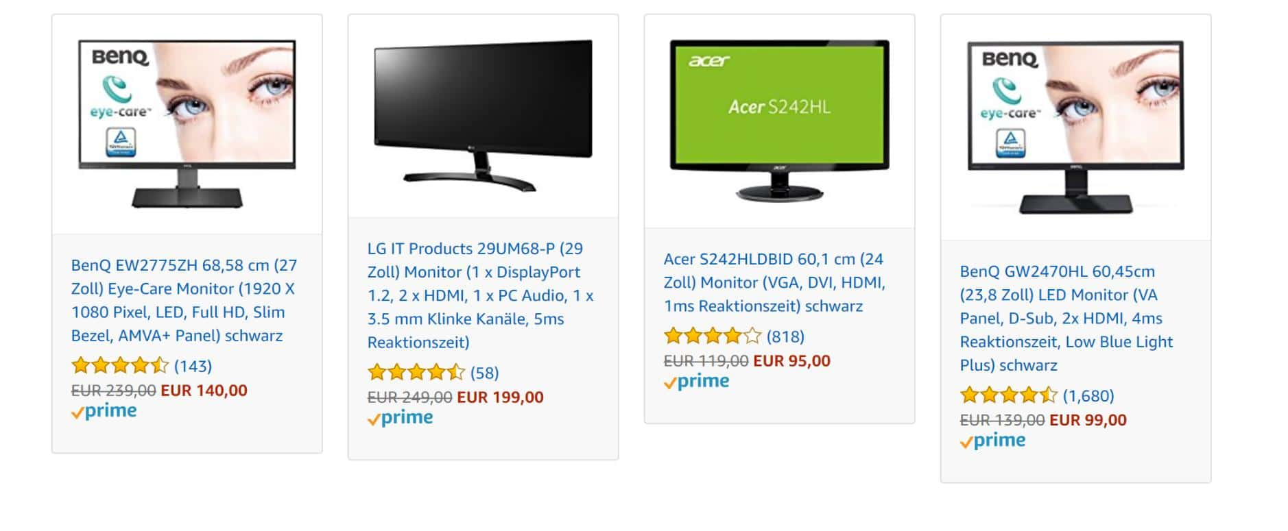 Amazon Monitore