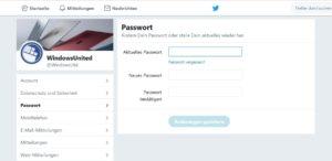 Twitter Passwort ändern
