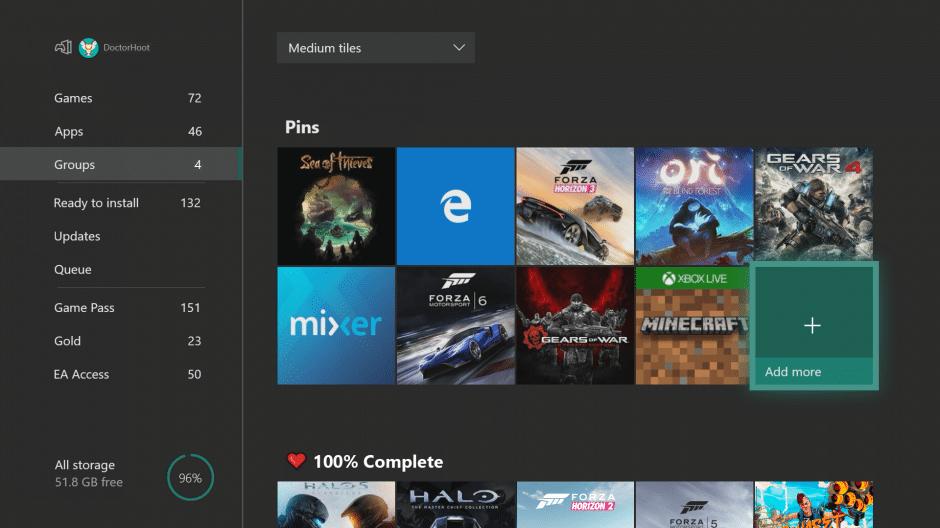 Update 1806 ist jetzt für Preview Alpha-Ring-Mitglieder auf der Xbox One verfügbar.