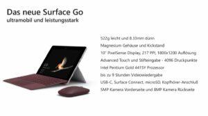 Surface Go Pro und Contra