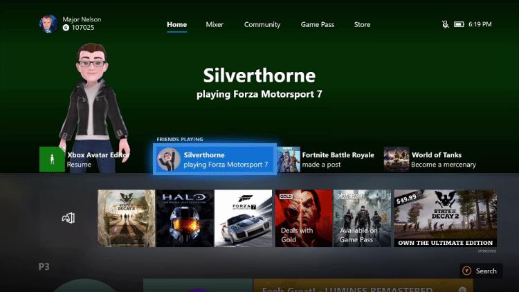 Das Preview Alpha Skip Ahead-Update 1810 auf der Xbox One bietet viele Neuerungen, unter anderem Dolby Vision für Netflix und die Anzeige der neuen Avatare auf dem Xbox-Dashboard.