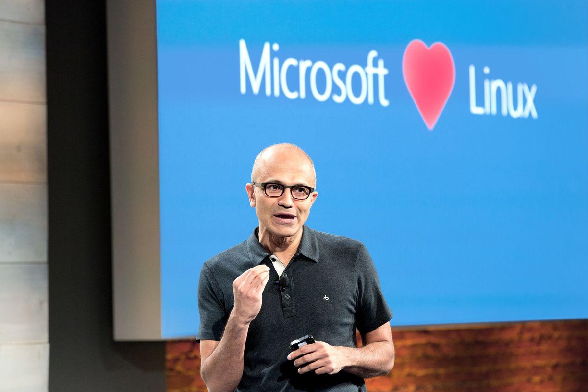 Microsoft Nadella Linux