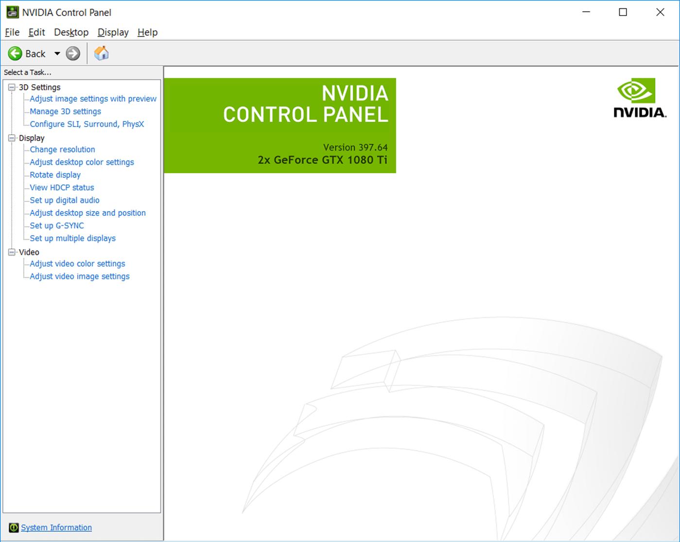 nvidia control panel windows 10 store