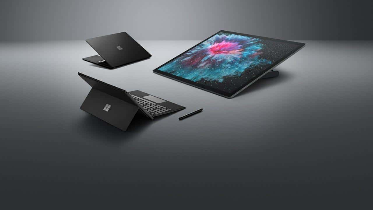 Surface Pro 6, Surface Laptop 2, Surface Studio 2