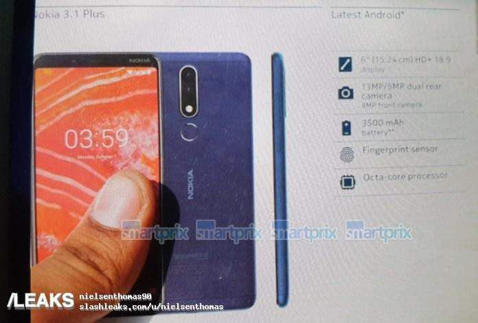 Nokia 3.1 Plus Spezifikationen Leak