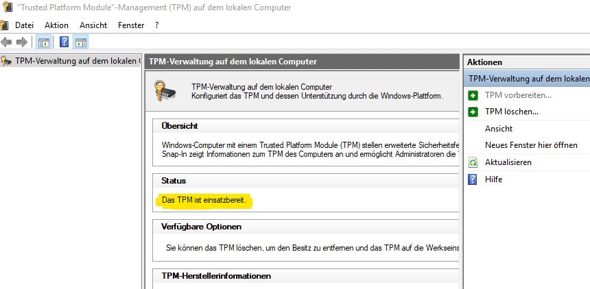 TPM Update Status