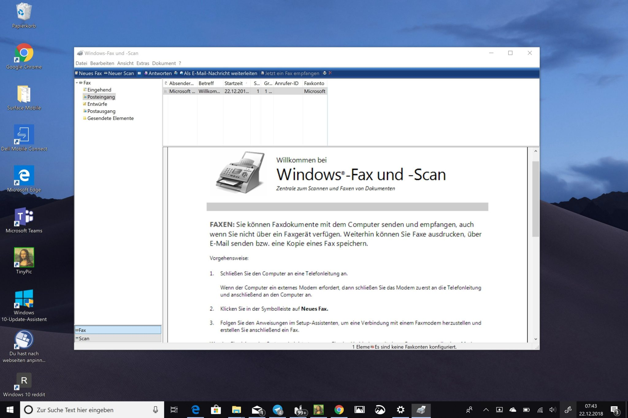 Windows 10 Fax alt
