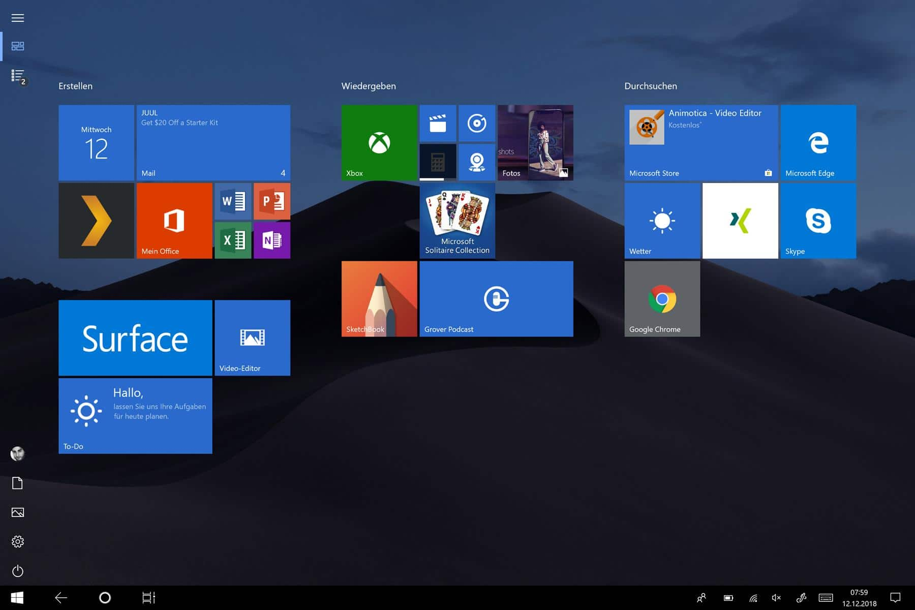 windows 10 tabletmodus alt