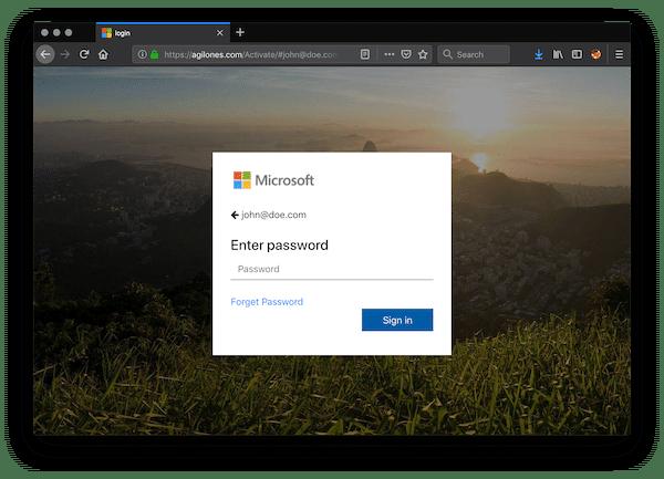 Kontoanmeldung Microsoft