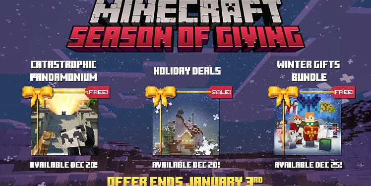 Kostenlose Weihnachtsgeschenke.Weihnachtsgeschenke Vom Minecraft Team Windowsunited