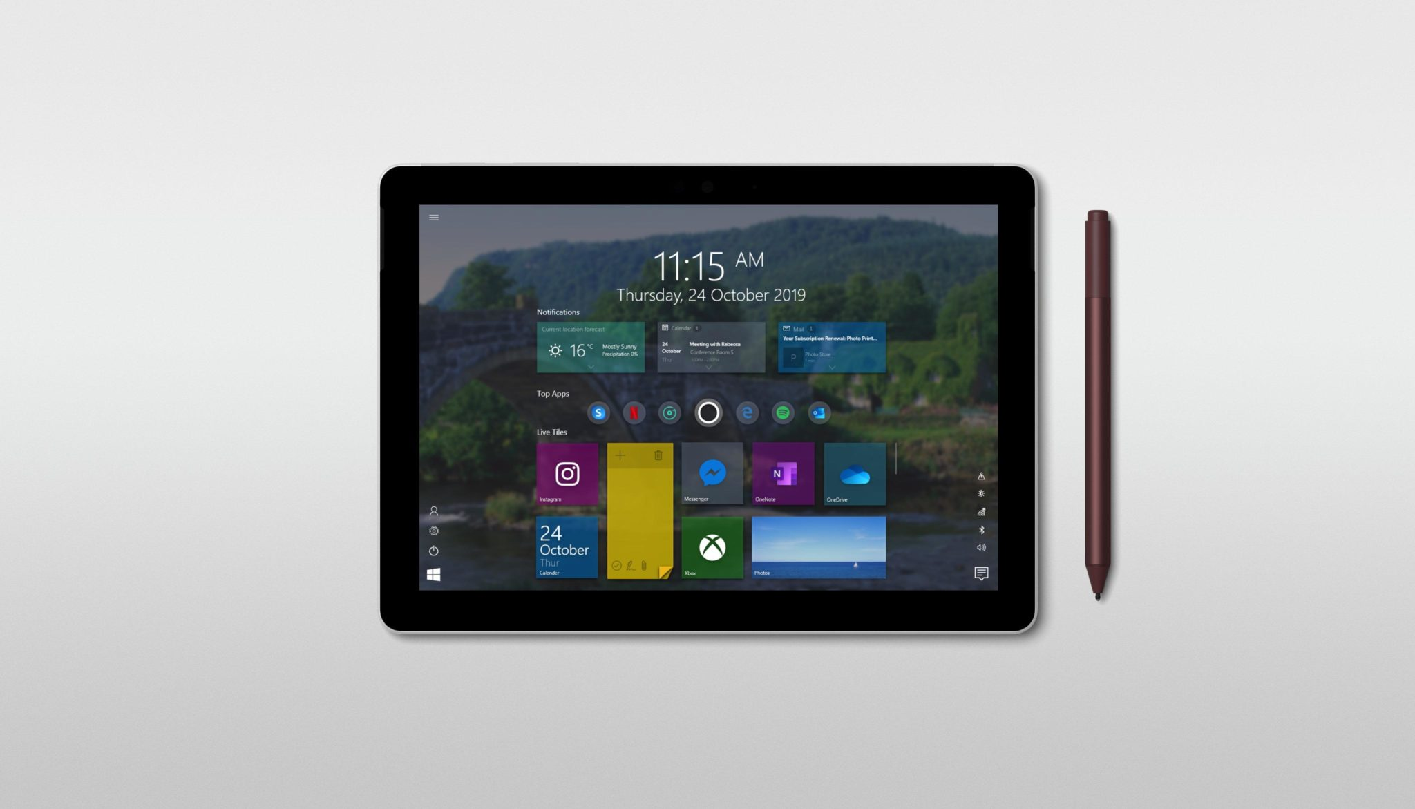 Windows 10 Tabletmodus Fluent Design
