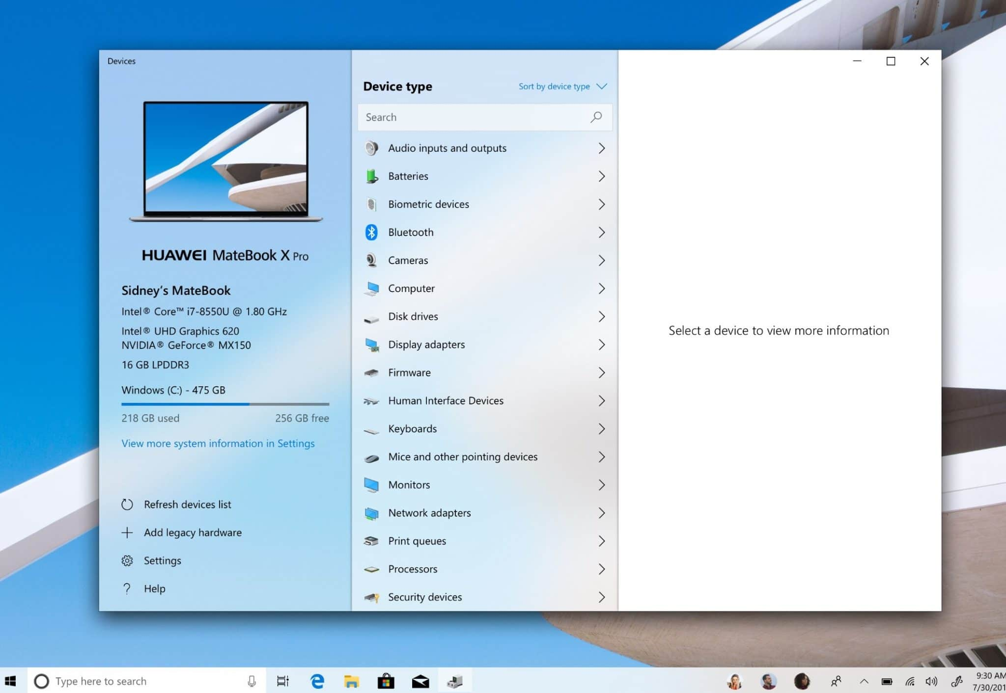 windows 10 gerätemanager fluent