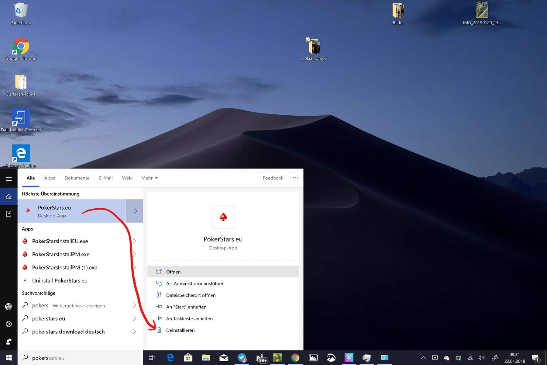 Windows 10 Programm entfernen