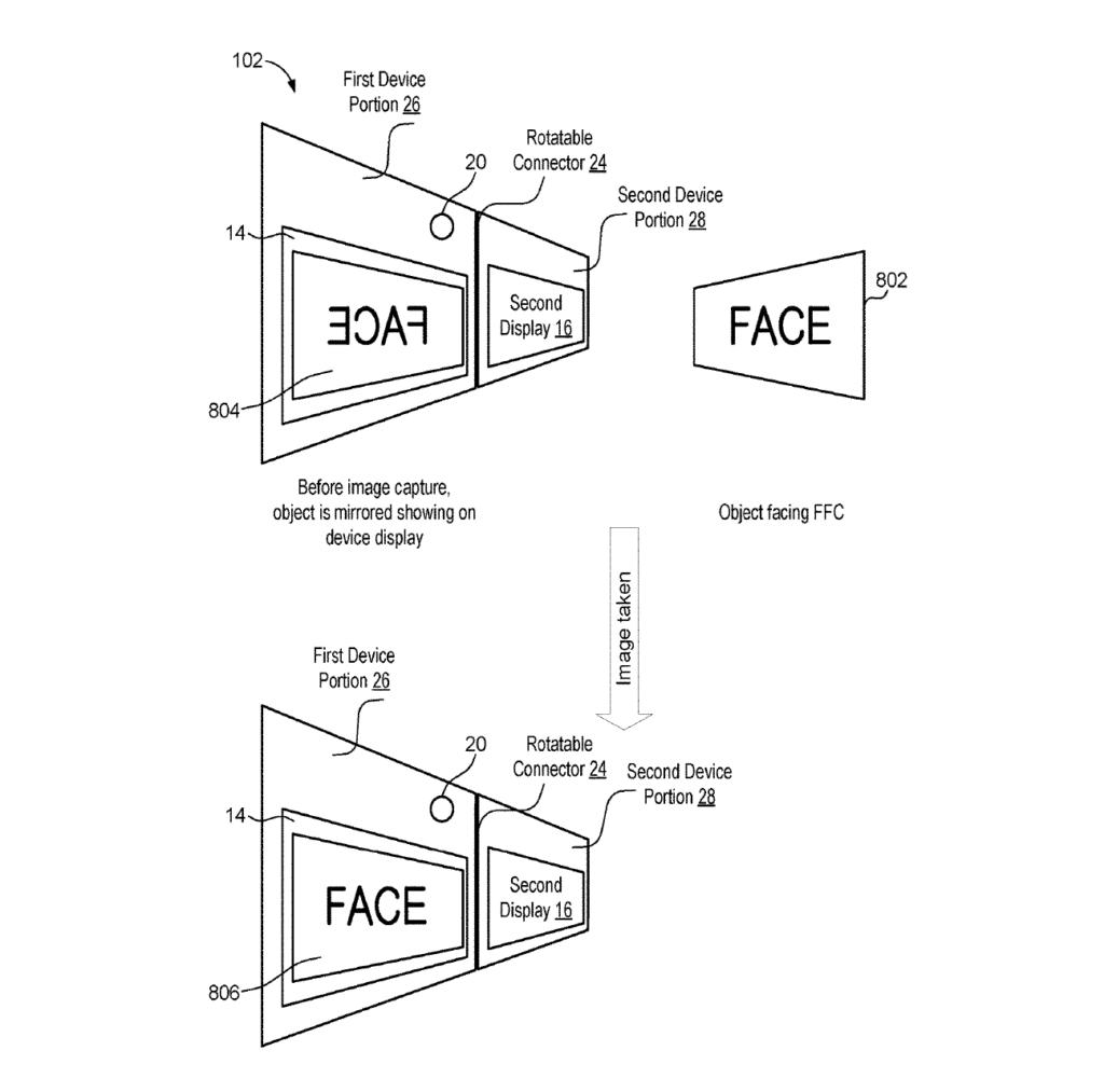 Microsoft Patent Selfies faltbare Smartphones