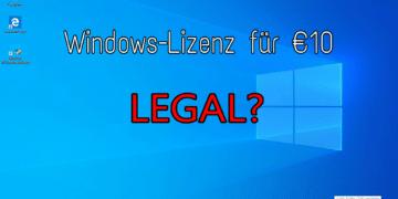 Windows 10 Lizenzschlüssel OEM gebraucht