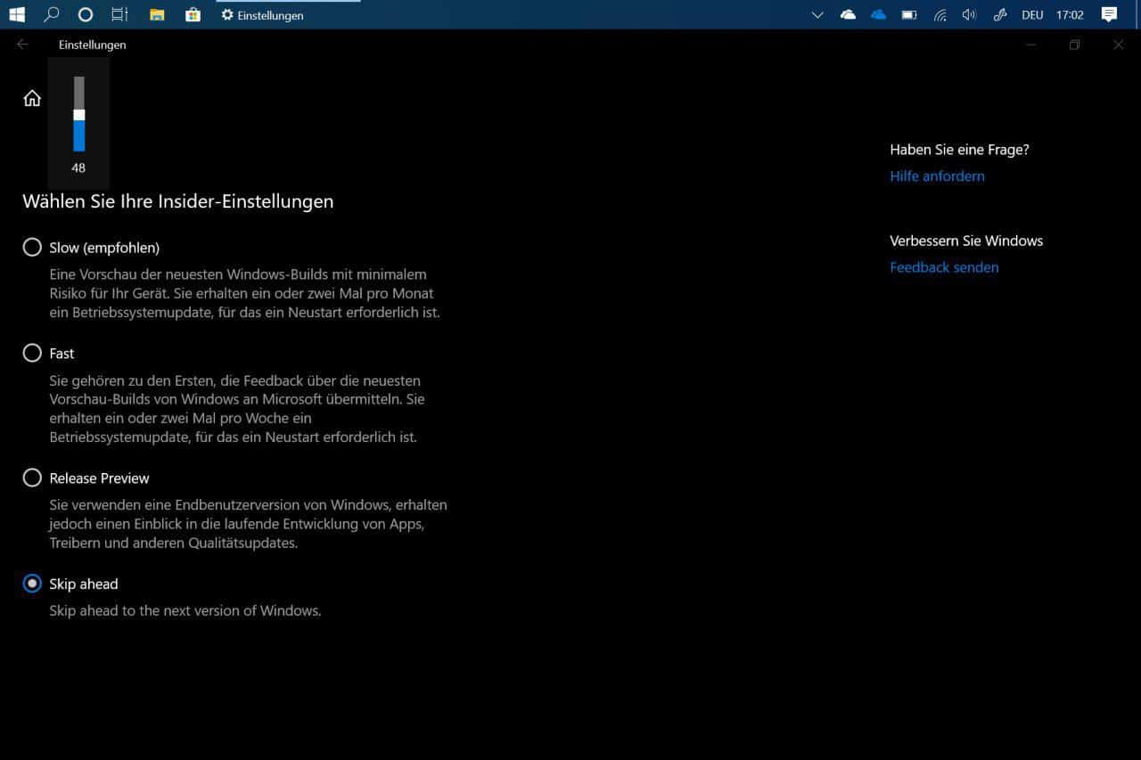 Windows 10 19H2 Skip Ahead