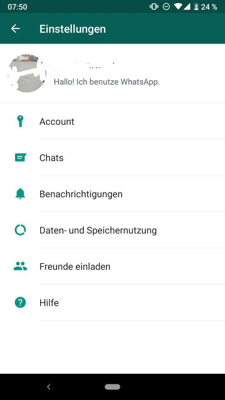 Whatsapp Android Bete Option Layout