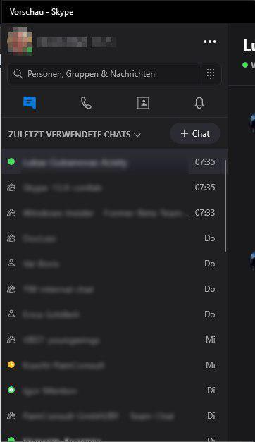 Skype Kontaktliste