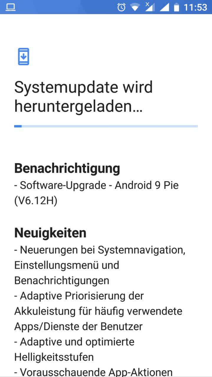 Nokia 6 2017 Android 9 Pie