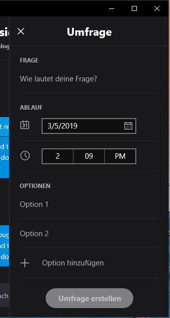 Skype-Version 8.41.76.43 Windows 10 umfrage