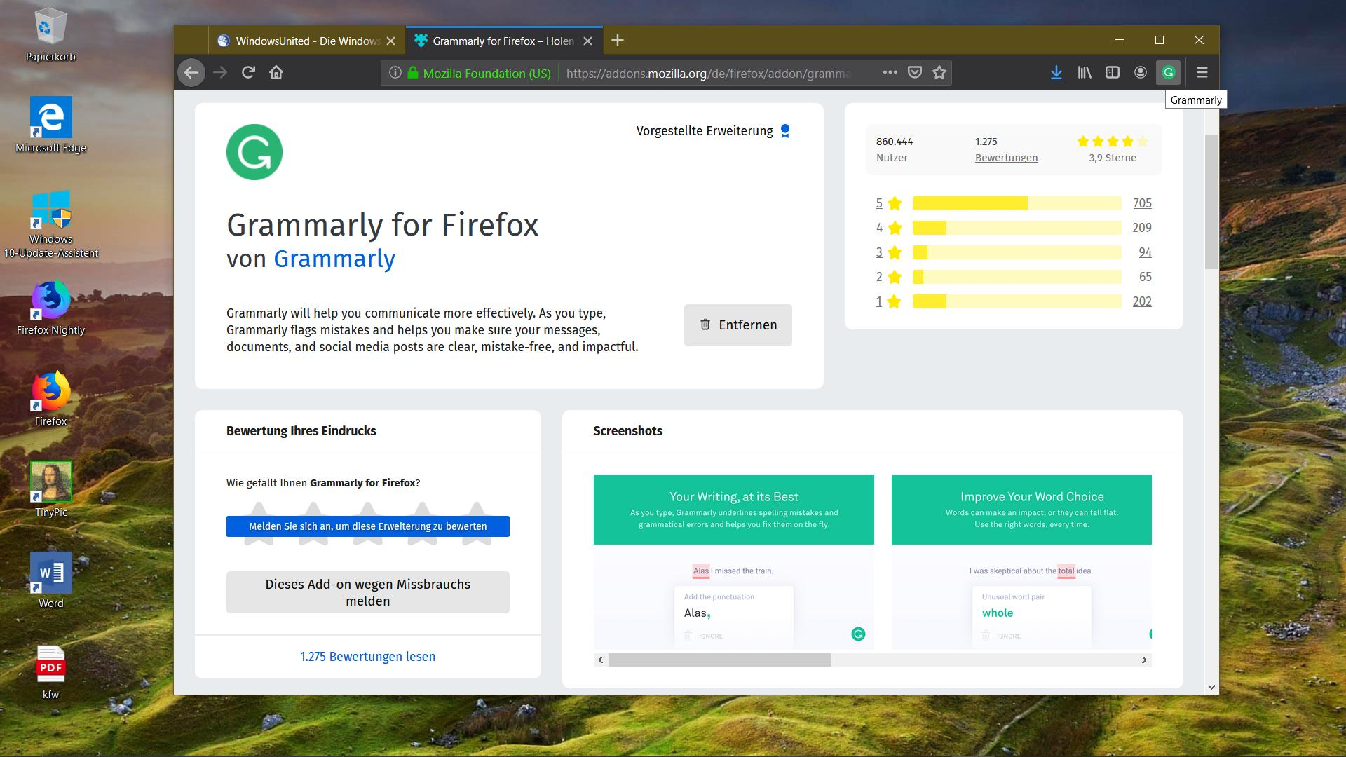 Mozilla Firefox ARM64 Windows 10 ARM