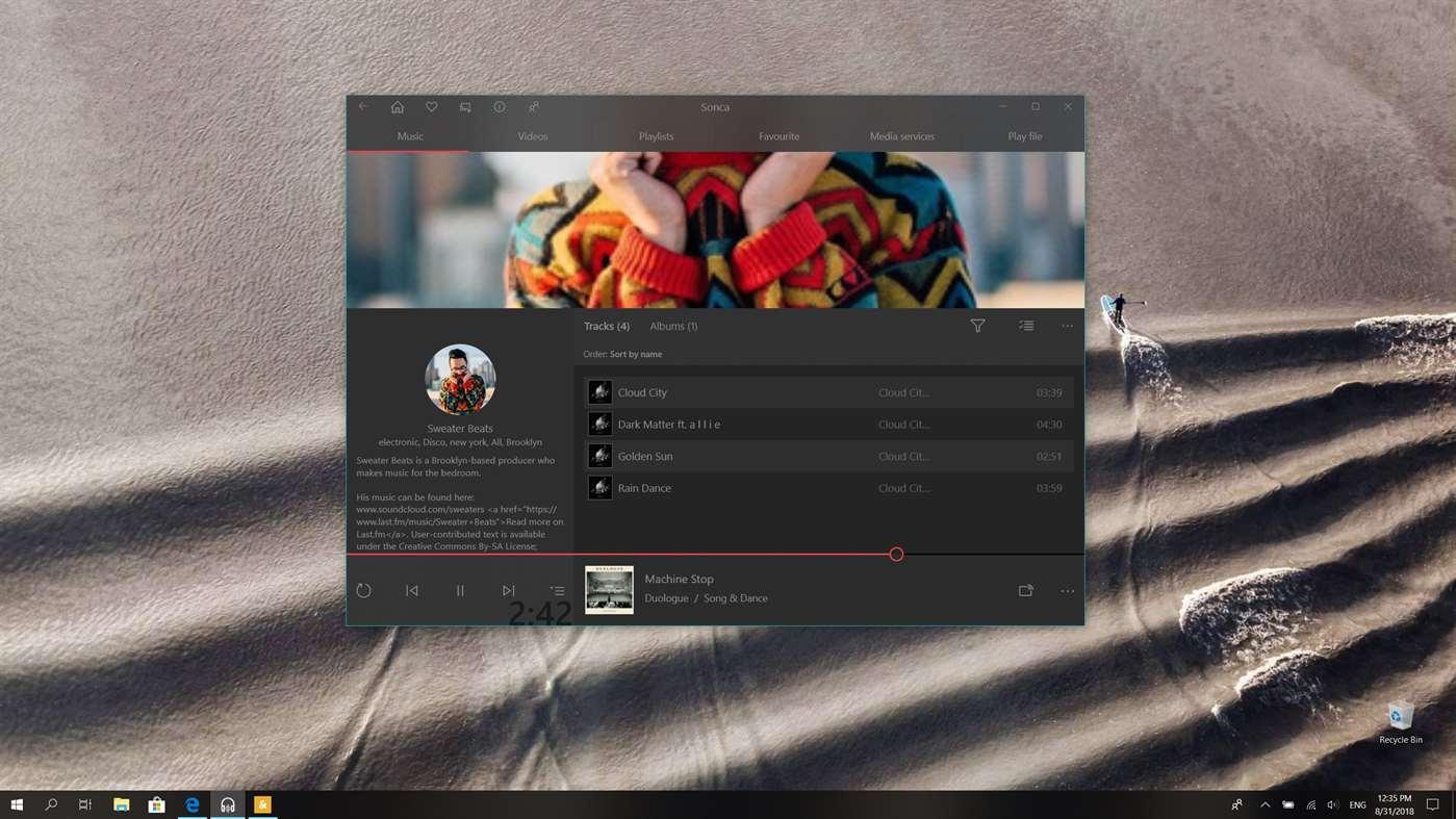 Sonca - Groove Music Alternative für Windows 10 und Windows