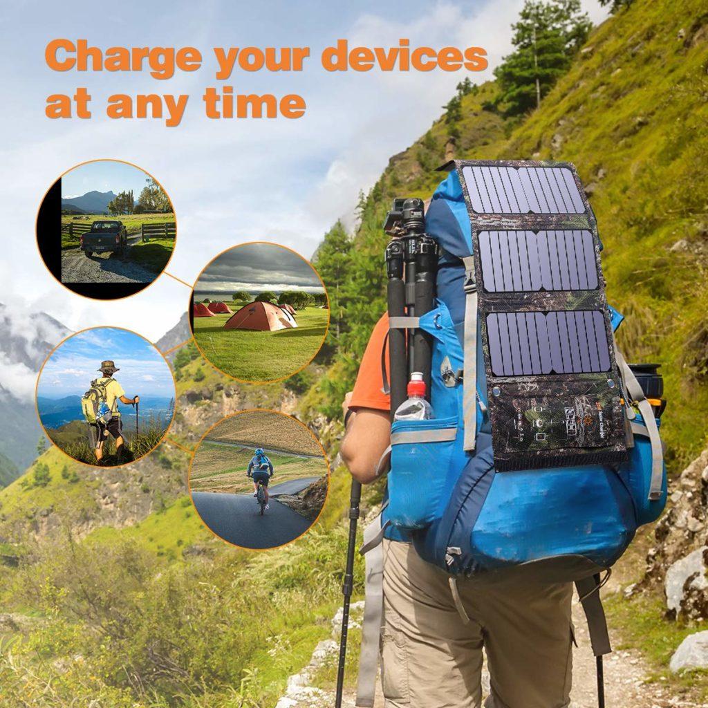 Solar Ladegerät Rucksack