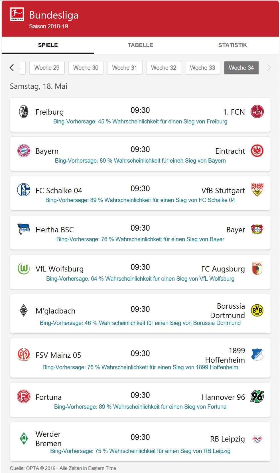 Bing Bundesliga Prognose