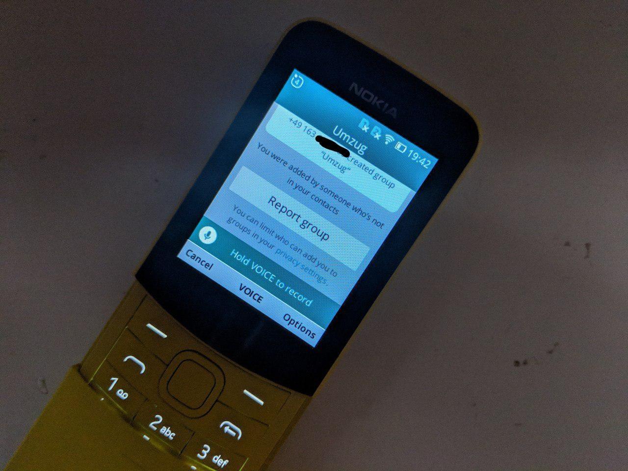 Nokia 8110 Whatsapp KaiOS