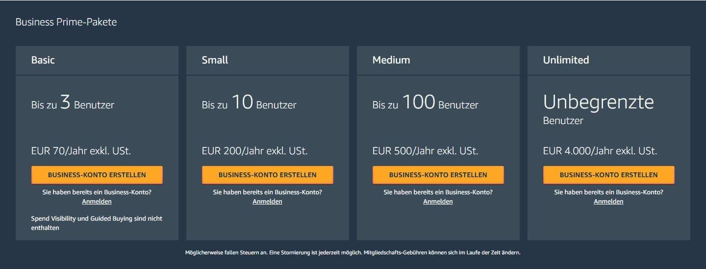 Amazon Business Kostenloses Konto erstellen