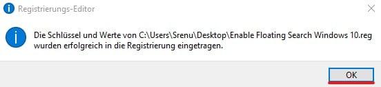 Neue Windows-Suche im Fluent Design aktivieren