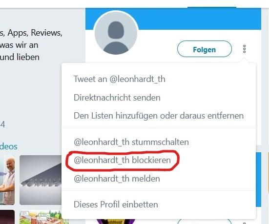 Twitter Nutzer entfolgen lassen