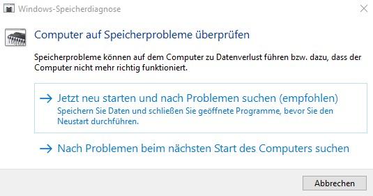 Windows 10 RAM überprüfen Anleitung