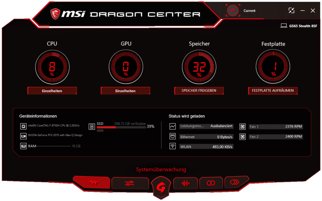 MSI Dragon Center: Monitoring, Einstellungen, Optimierungen und Support