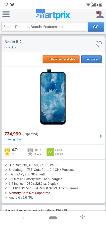 Nokia 8.2 Design Preis Release