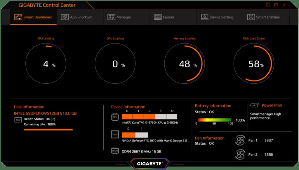 Gigabyte ControlCenter Software