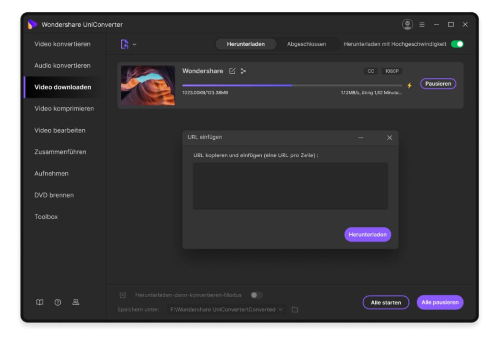 UniConverter YouTube Downloader for free