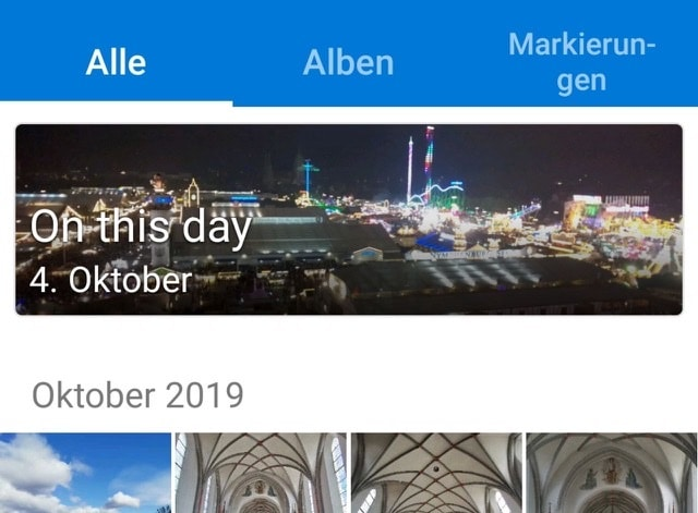 "Microsoft OneDrive Version 5.41 ""an diesem Tag"", Beta Android"