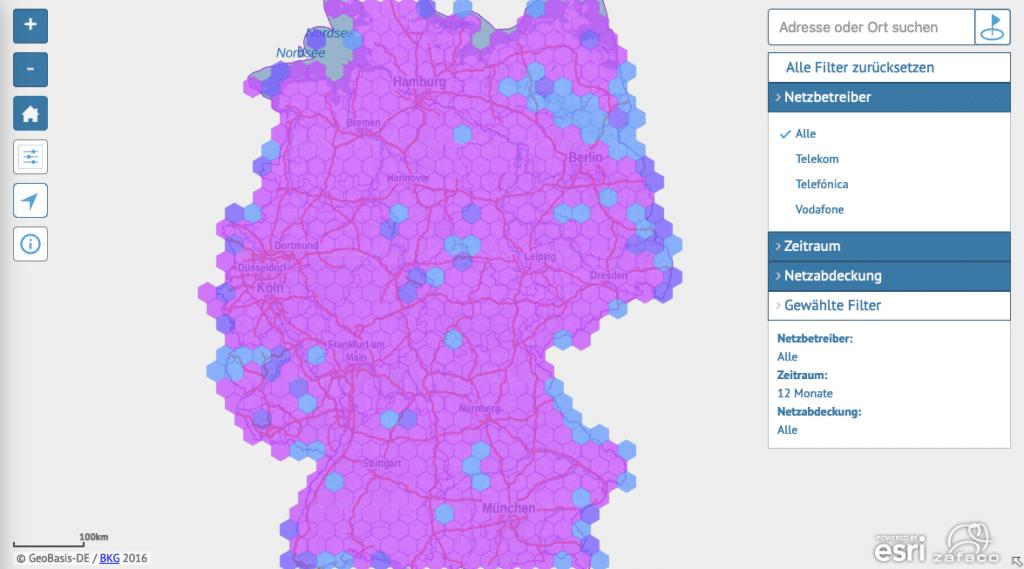 Funkloch Karte Deutschland