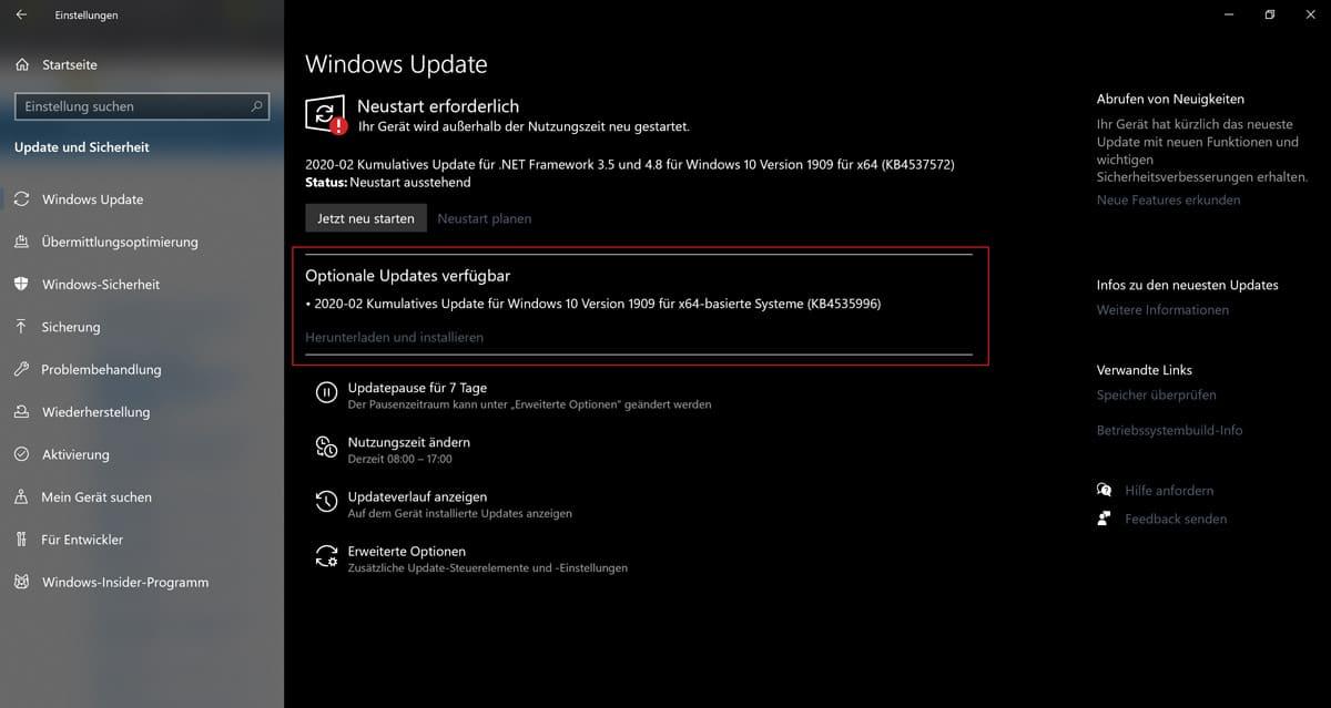 Windows 10 KB4535996