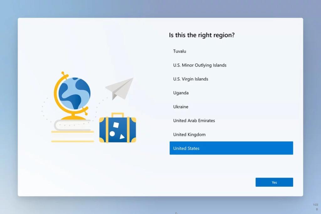 Sprachauswahl im Setup unter Windows 10 X