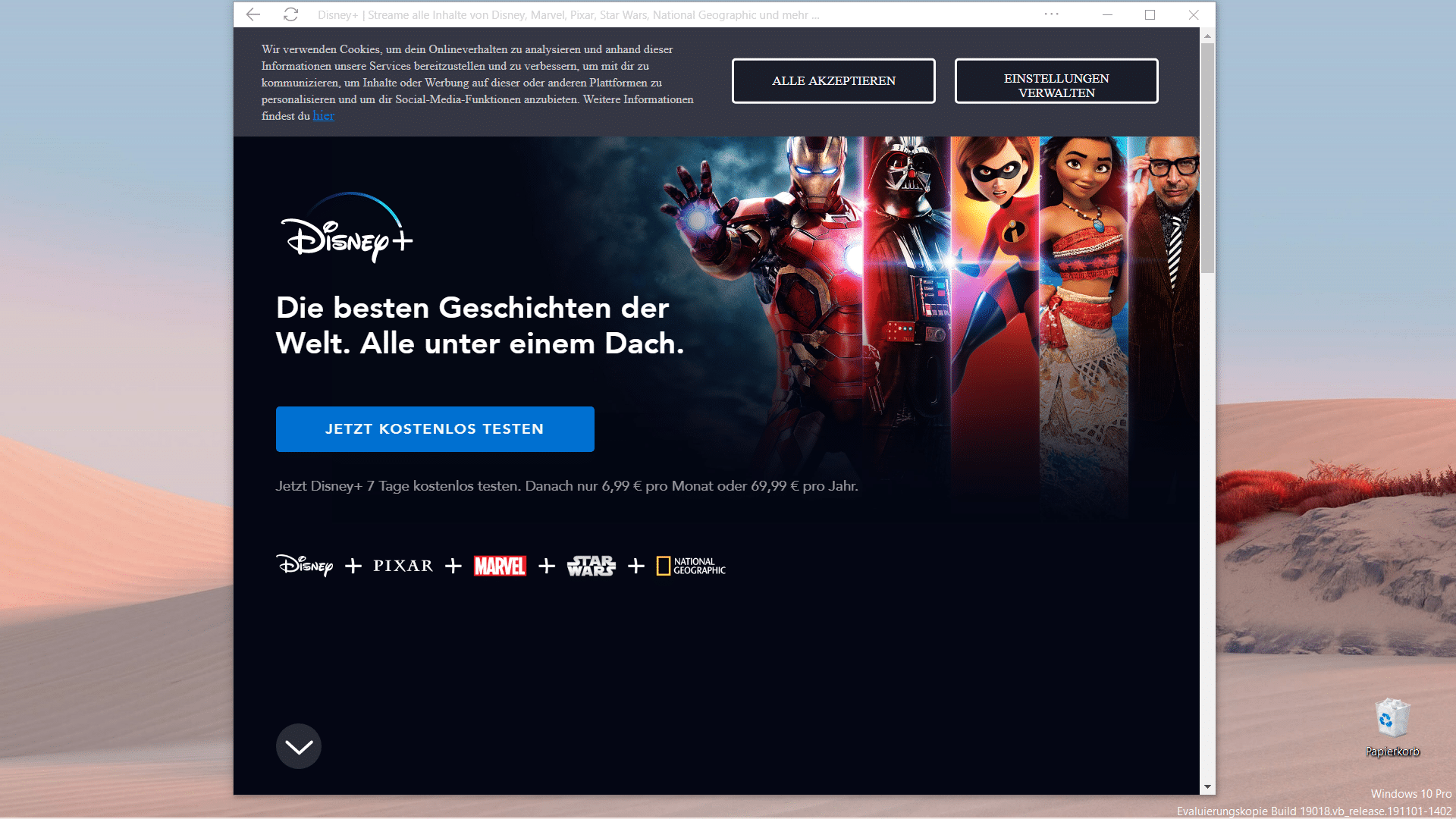 Disney+ App PWA Installation Xbox, Windows 10, Android, ios
