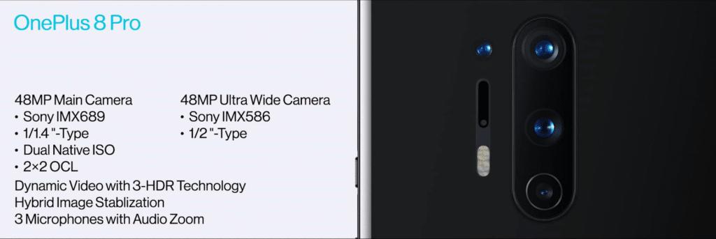 OnePlus 8 Pro Camera Specs