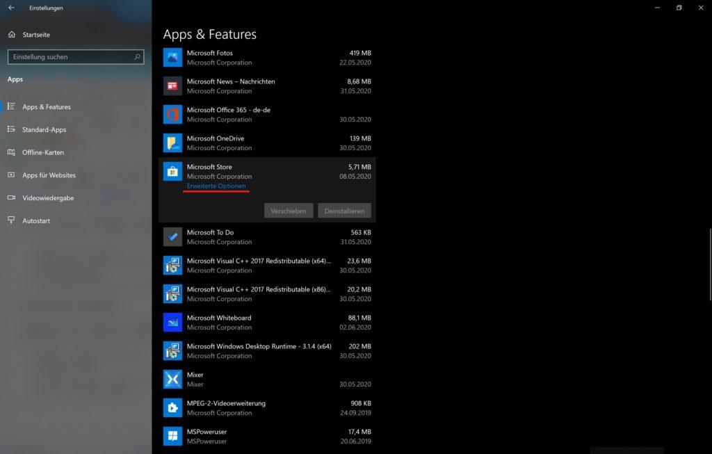 Microsoft Store Probleme