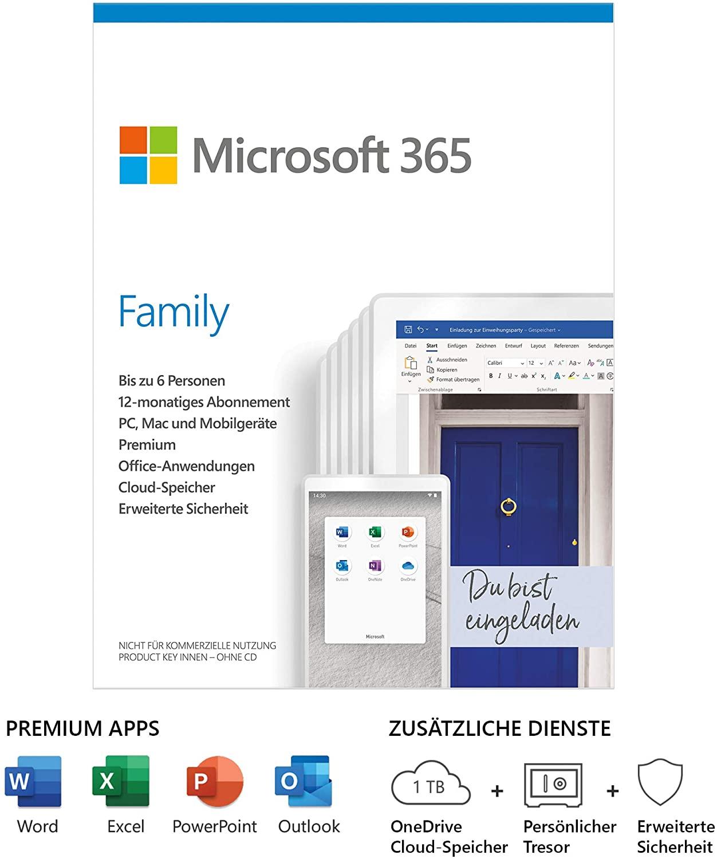 Microsoft 365 Family Deal Rabatt Angebot
